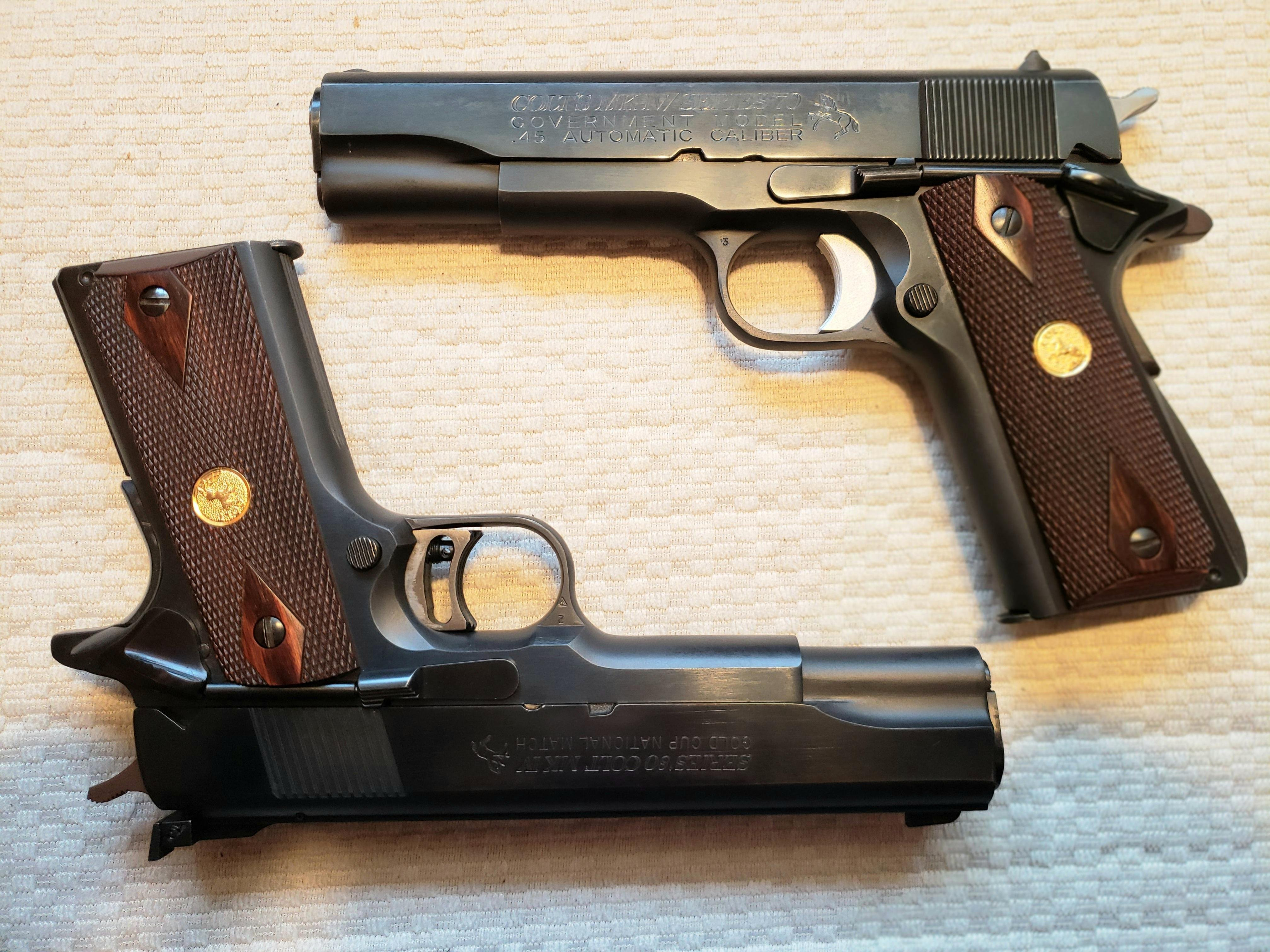 Click image for larger version  Name:20190324_093415 Colt S 70 Colt Gold cup.jpg Views:18 Size:1.23 MB ID:568910